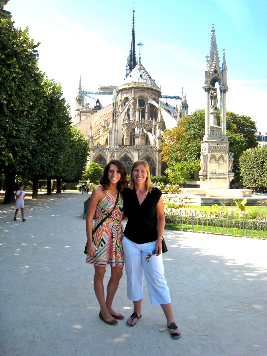 Mom and I with Notre Dame