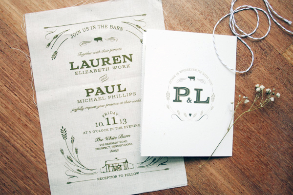Wedding Invitation Thoughts: Fabric Invites – Snapshots & My Thoughts
