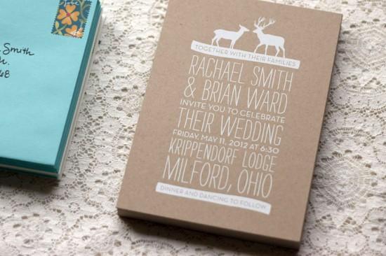 Rustic-Woodland-Fabric-Kraft-Paper-Wedding-Invitations-550x366