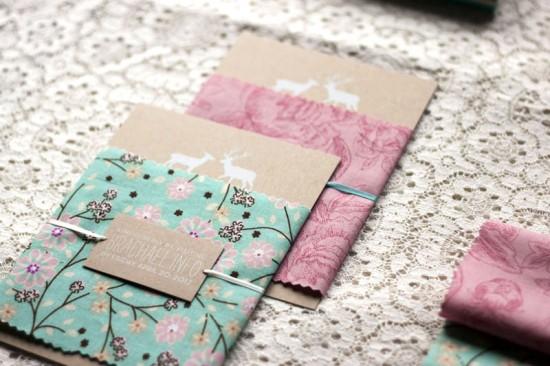 Rustic-Woodland-Fabric-Kraft-Paper-Wedding-Invitations4-550x366