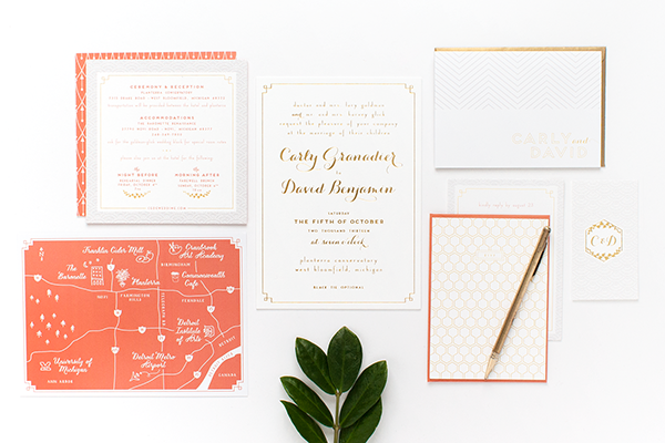 Coral-Gold-Foil-Glam-Wedding-Invitations-Alisa-Bobzien