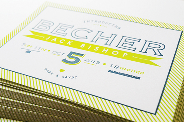 Chartreuse-Letterpress-Birth-Announcement-Maison-Yellow