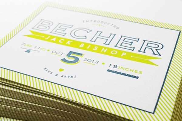 Chartreuse-Letterpress-Birth-Announcement-Maison-Yellow