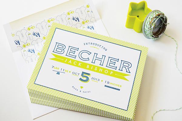 Chartreuse-Letterpress-Birth-Announcement-Maison-Yellow2